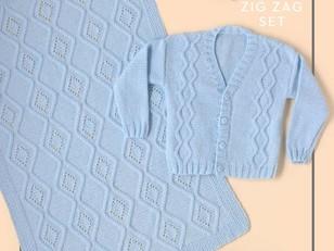 Zig Zag Set in Paintbox Yarns Baby DK - Downloadable PDF