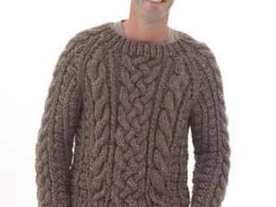Top 5 Free Aran Jumper Knitting Patterns For Men Loveknitting