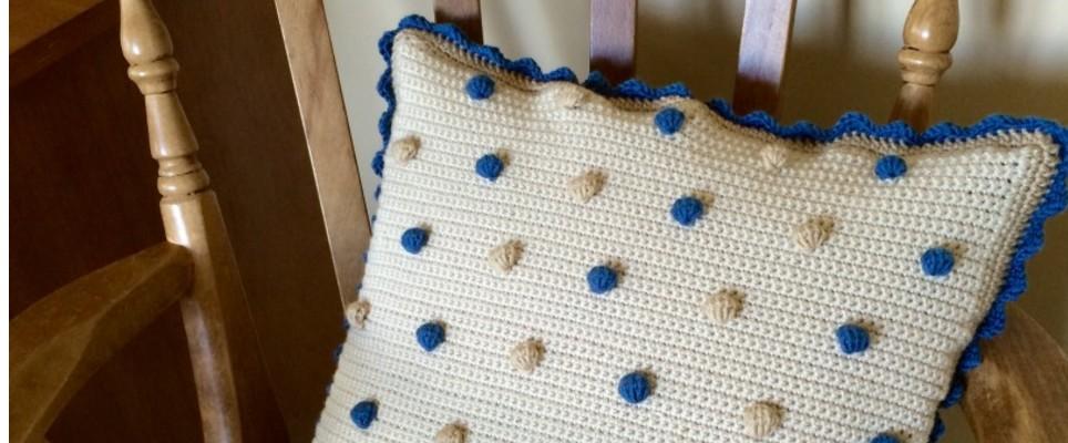 kate eastwood bobble cushion tutorial