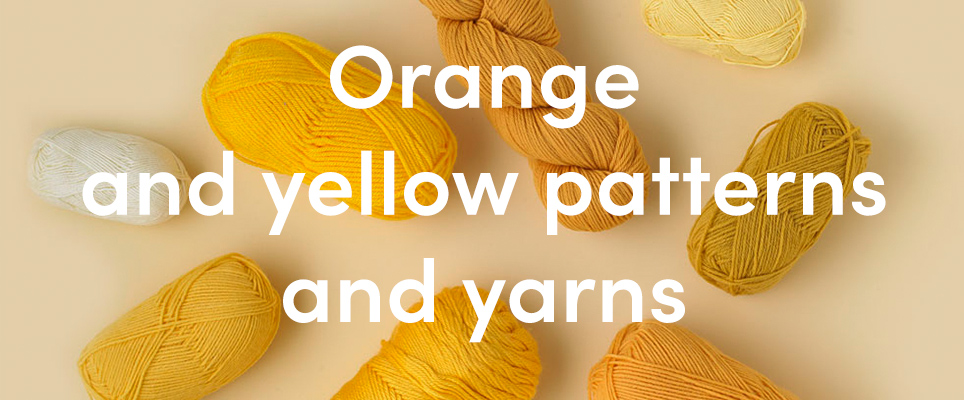 9b8fd24e2d57d Knitting in orange and yellow - from palest lemon to deepest marmalade