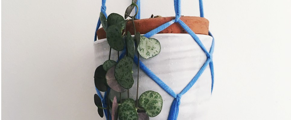 how to make macrame plant holder tutorial by christine leech
