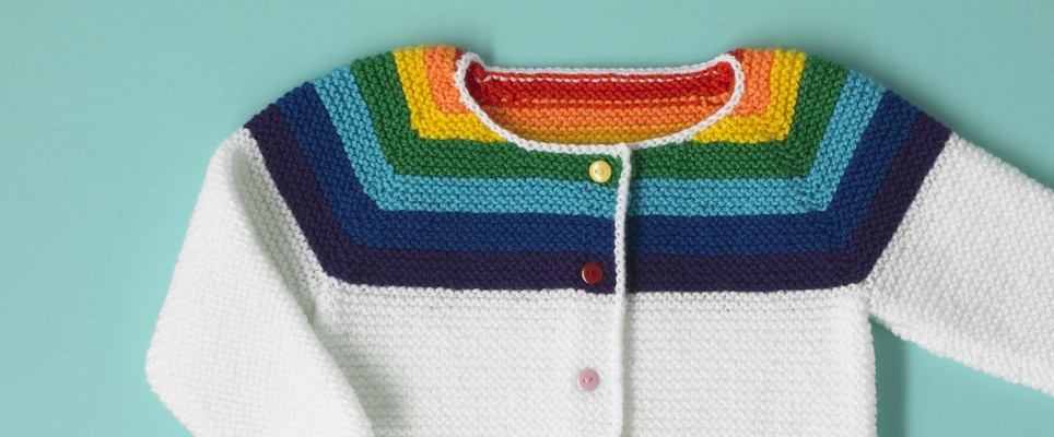 Buttons Paintbox Rainbow Cardigan