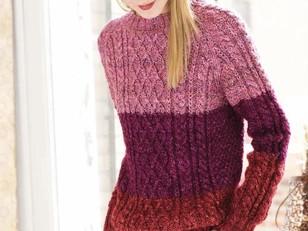 f3e1bcbbdd8be Colorblock Fisherman s Sweater in Noro Silk Garden Solo - 22 - Downloadable  PDF