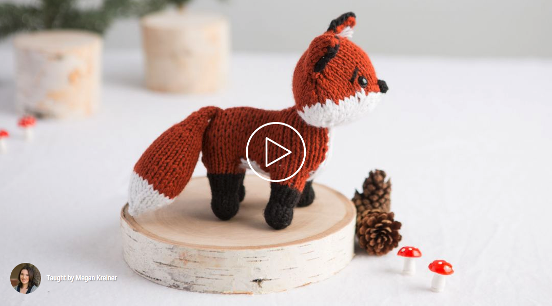 How to knit a fox tutorial