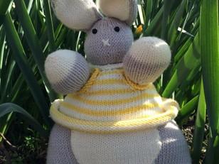 Erik Easter Bunny Toy in MillaMia Naturally Soft Merino