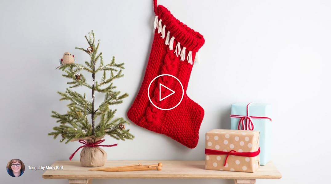 How to knit a Christmas stocking