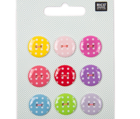 Rico Buttons Dotty Flat Buttons