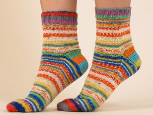 Cosy Contrast Socks in Paintbox Yarns Socks - Downloadable PDF