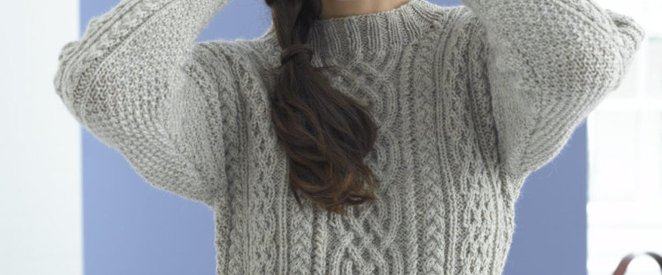 Top 5 Free Aran Jumper Knitting Patterns For Women Loveknitting