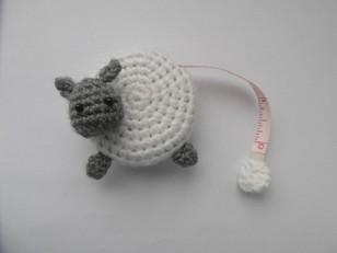 Sheep tape measure cover