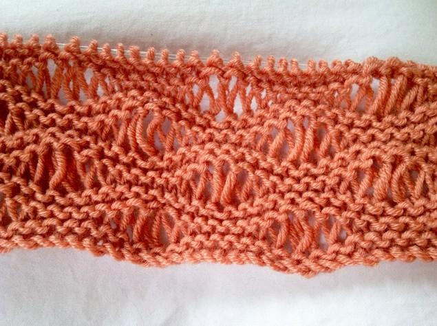 knitting seafoam stitch