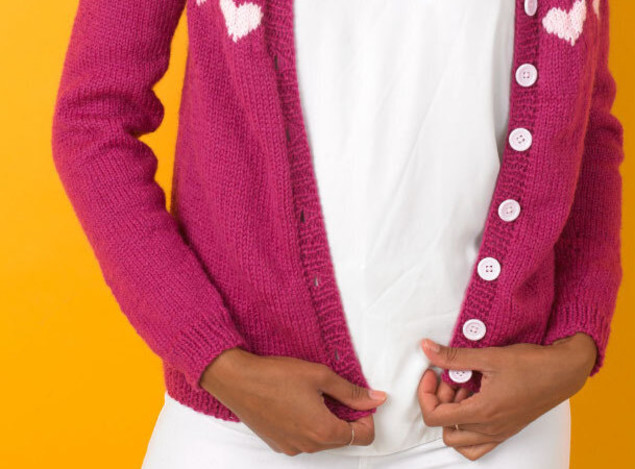 Buttonhole Paintbox Cardi